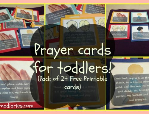 Prayer cards for toddlers & preschoolers