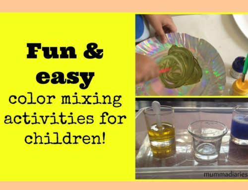 Easy & Fun Color Mixing activities for children!