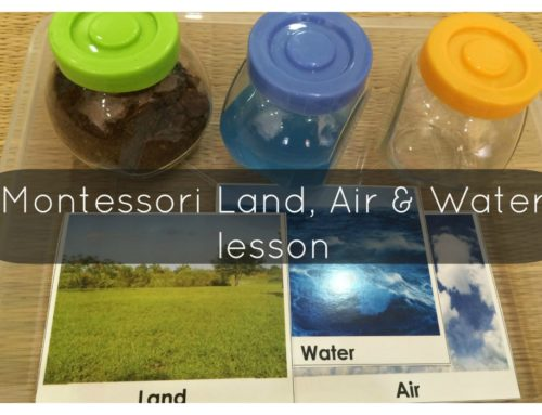 How to set up a Montessori Land, Air & Water Lesson for your child?!